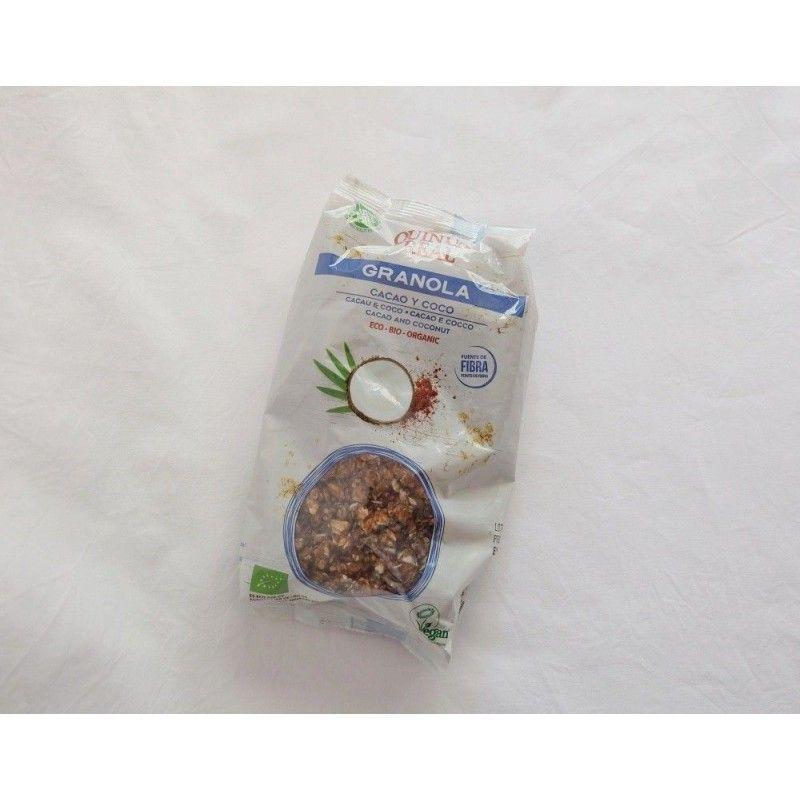 Granola eco de quinoa, cacao y coco