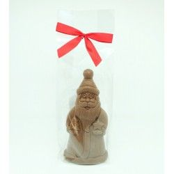 Papa Noel de chocolate con leche sin lactosa Frufree